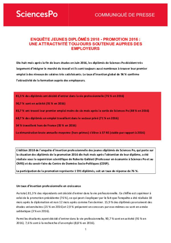 20180719 Cp Enquete Jeunes Diplomes 2018 Last